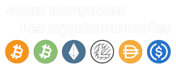 Nous acceptons les cryptomonnaies